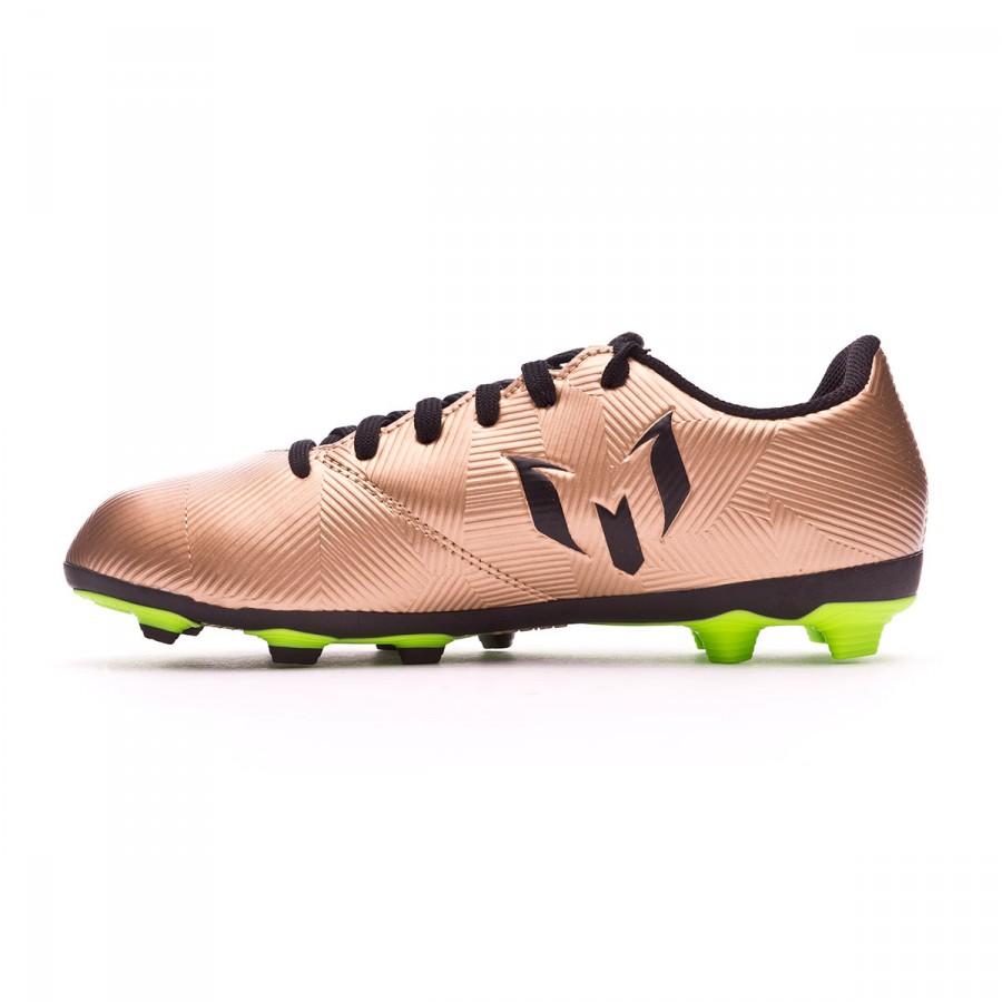 fe9d6fa9e2b43 Bota de fútbol adidas Messi 16.4 FxG Niño Copper metallic-Core black -  Tienda de fútbol Fútbol Emotion