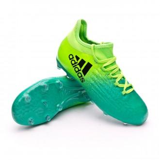 Chuteira  adidas Jr X 16.1 FG Solar green-Core black