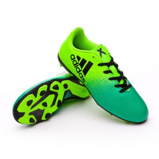 Bota  adidas jr X 16.4 FxG Solar green-Core black