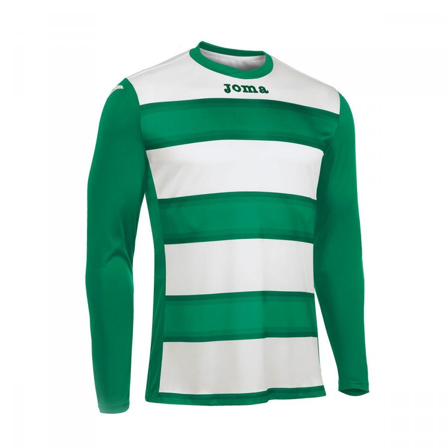 228bc7c2ddba8 Camiseta Joma Europa III m l Verde-Blanco - Tienda de fútbol Fútbol Emotion