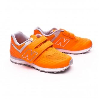 Zapatilla  New Balance KL574 Velcro Niño Orange-Grey