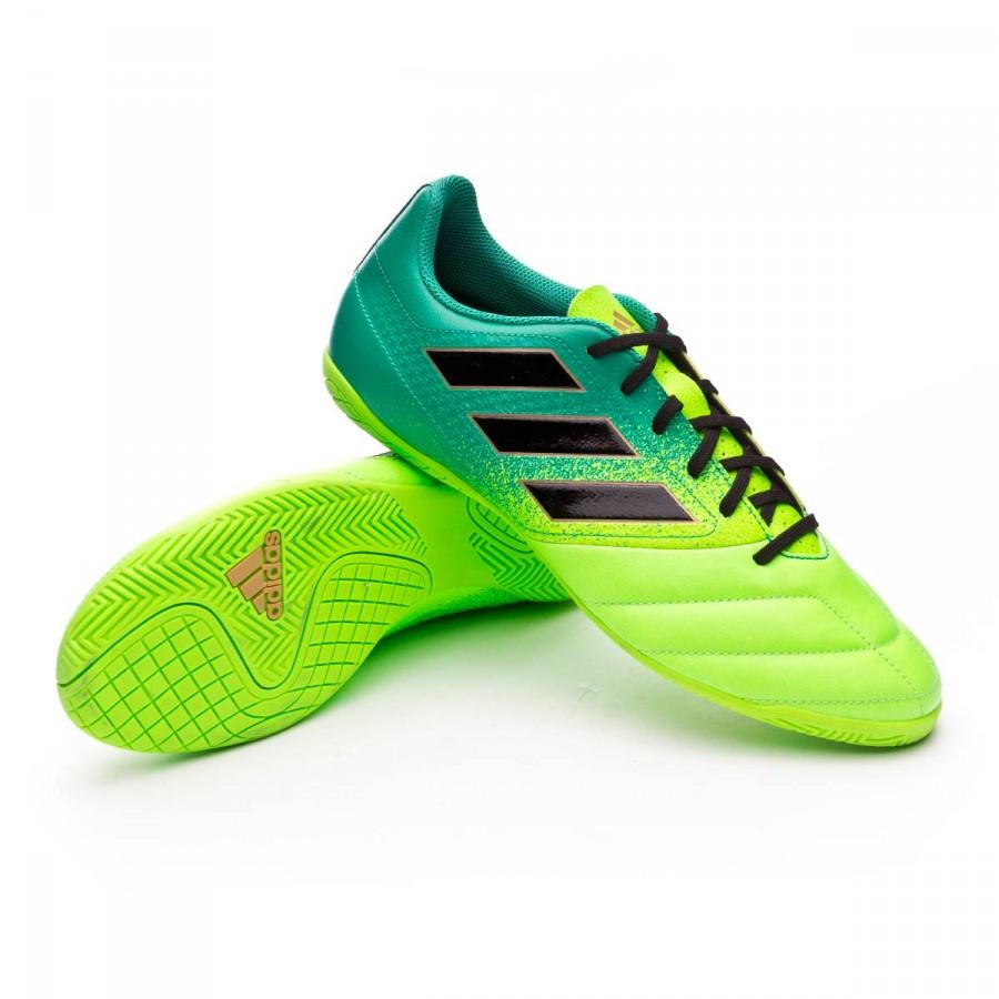01eb55bd27f02 Futsal Boot adidas Ace 17.4 IN Solar green-Core black-Core green ...
