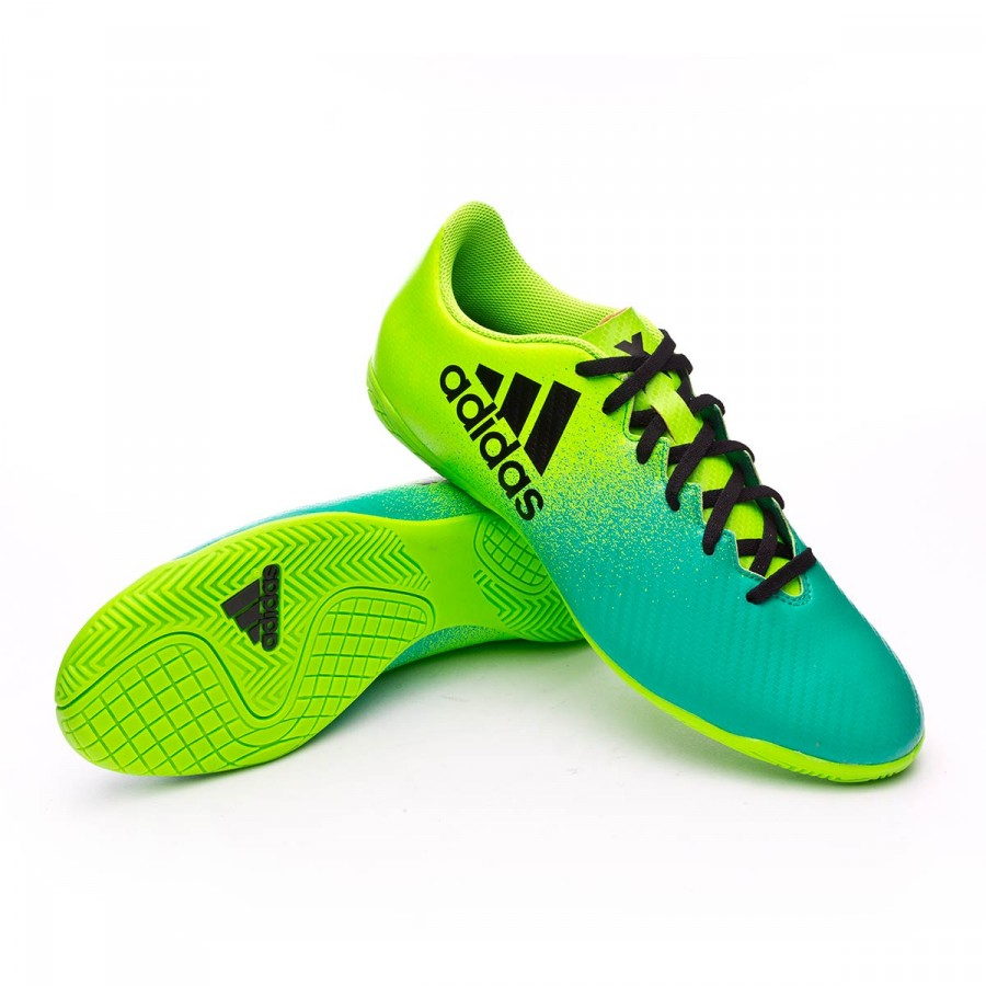 6c81b8c45500 Futsal Boot adidas X 16.4 IN Solar green-Core black-Core green ...
