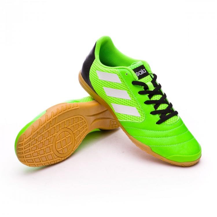 Zapatilla adidas Ace 17.4 Sala Solar green-White-Core black ... e3d6184fb8fbe