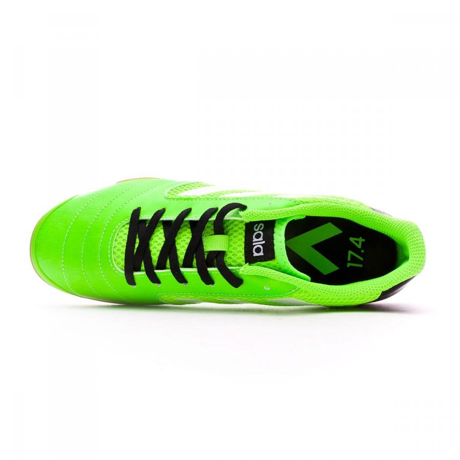 sports shoes 74338 769a2 Futsal Boot adidas Ace 17.4 Sala Solar green-White-Core black - Football  store Fútbol Emotion