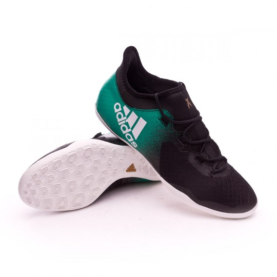 Scarpa  adidas X Tango 16.2 IN Core black-Crystal white-Core green