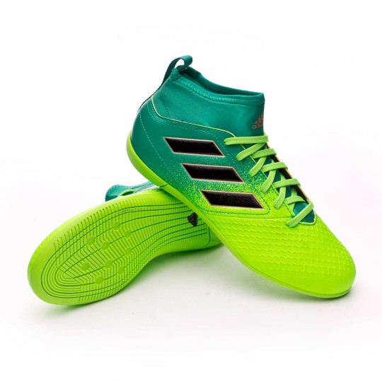 Zapatilla de fútbol sala  adidas jr Ace 17.3 Primemesh IN Solar green-Core black-Core green