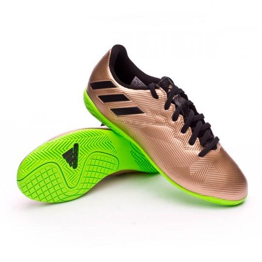 Chaussure de futsal  adidas jr Messi 16.4 IN Copper metallic-Core black-Solar green