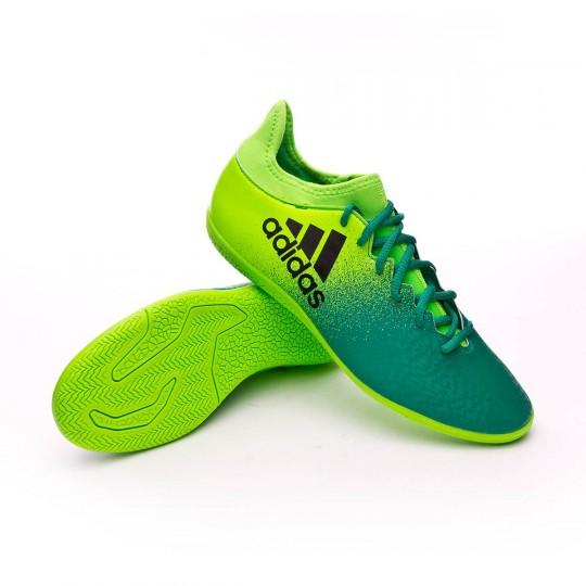 Scarpa  adidas X 16.3 IN Solar green-Core black