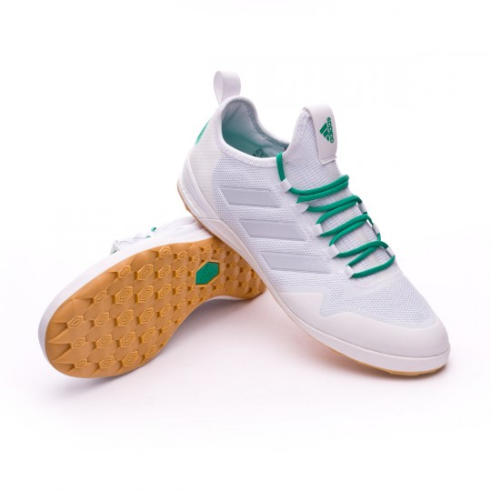 Zapatilla de fútbol sala  adidas Ace Tango 17.1 IN White-Clear grey-Core green