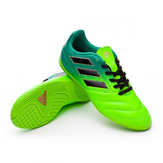 Zapatilla de fútbol sala  adidas jr Ace 17.4 IN Solar green-Core black-Core green