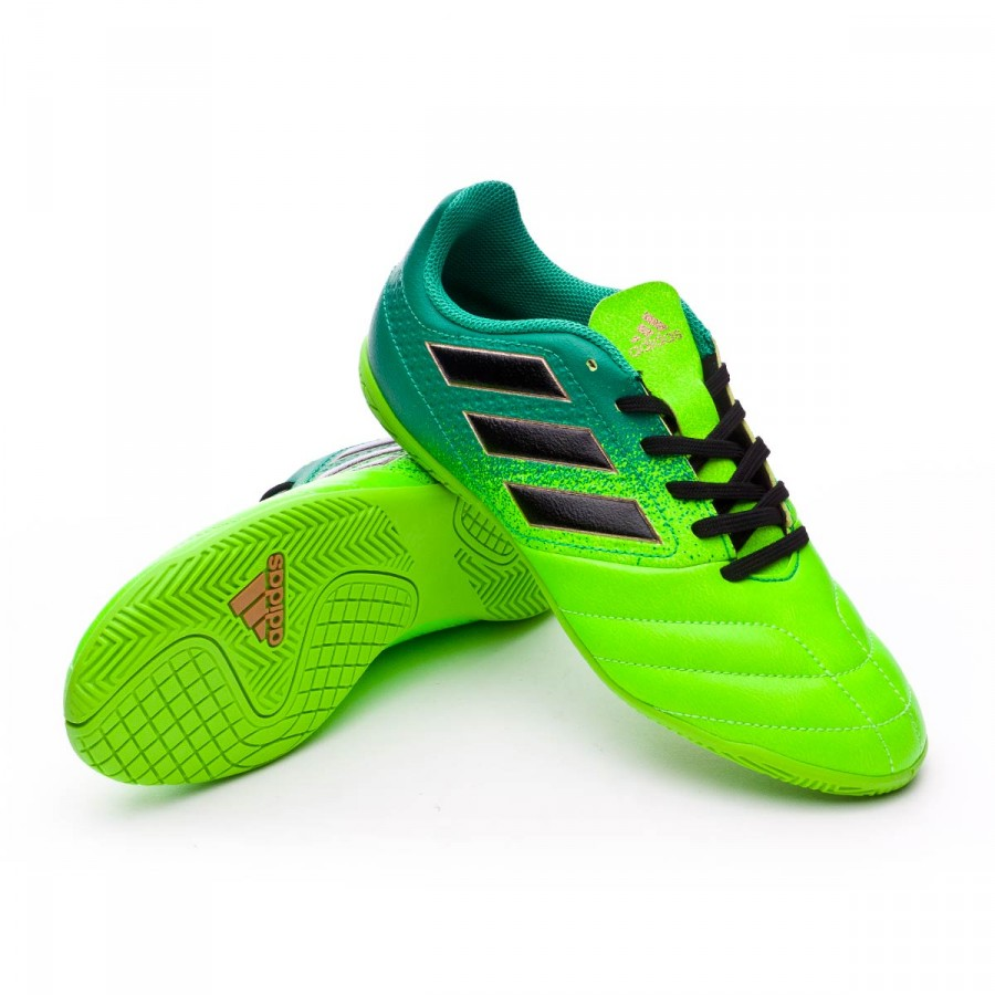 7840006c849a Futsal Boot adidas Jr Ace 17.4 IN Solar green-Core black-Core green ...