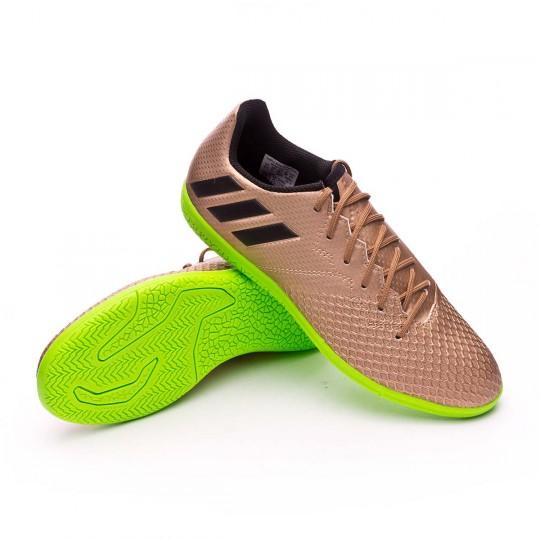Zapatilla  adidas Messi 16.3 IN Niño Copper metallic-Core black-Solar green