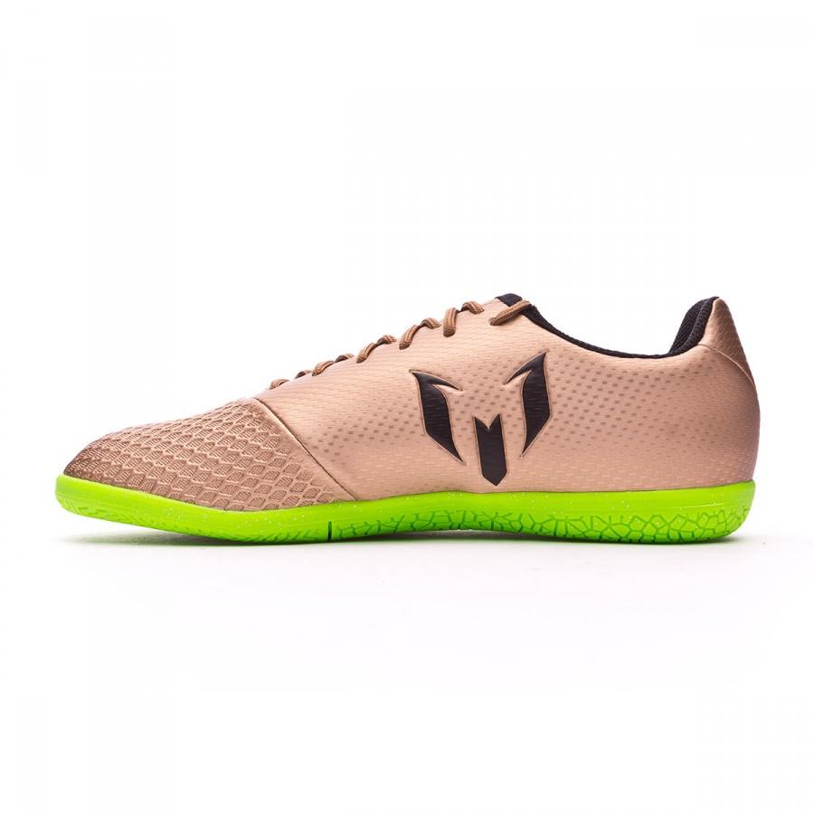 best service c9ae2 8e875 Zapatilla adidas Messi 16.3 IN Niño Copper metallic-Core black-Solar green  - Soloporteros es ahora Fútbol Emotion