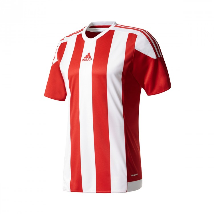 Camiseta adidas Striped 15 m/c Rojo-Blanco - Soloporteros es ahora ...