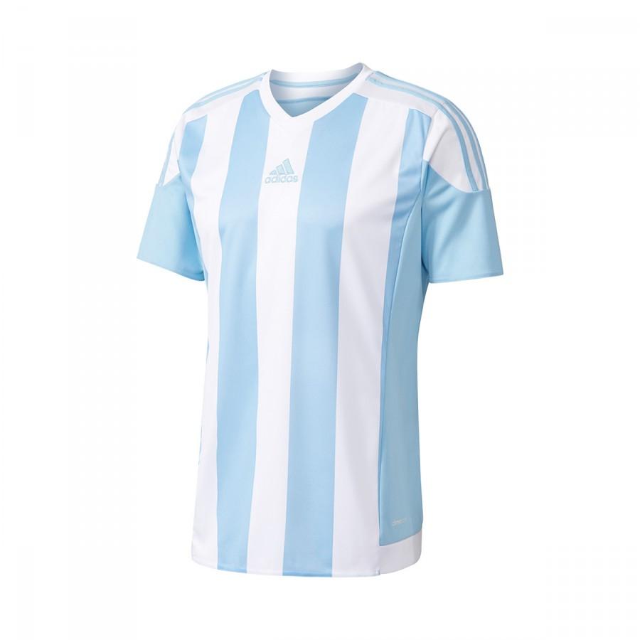 6489ad40a7ec3 Camisola adidas Striped 15 m/c Azul celeste-Branco - Loja de futebol Fútbol  Emotion