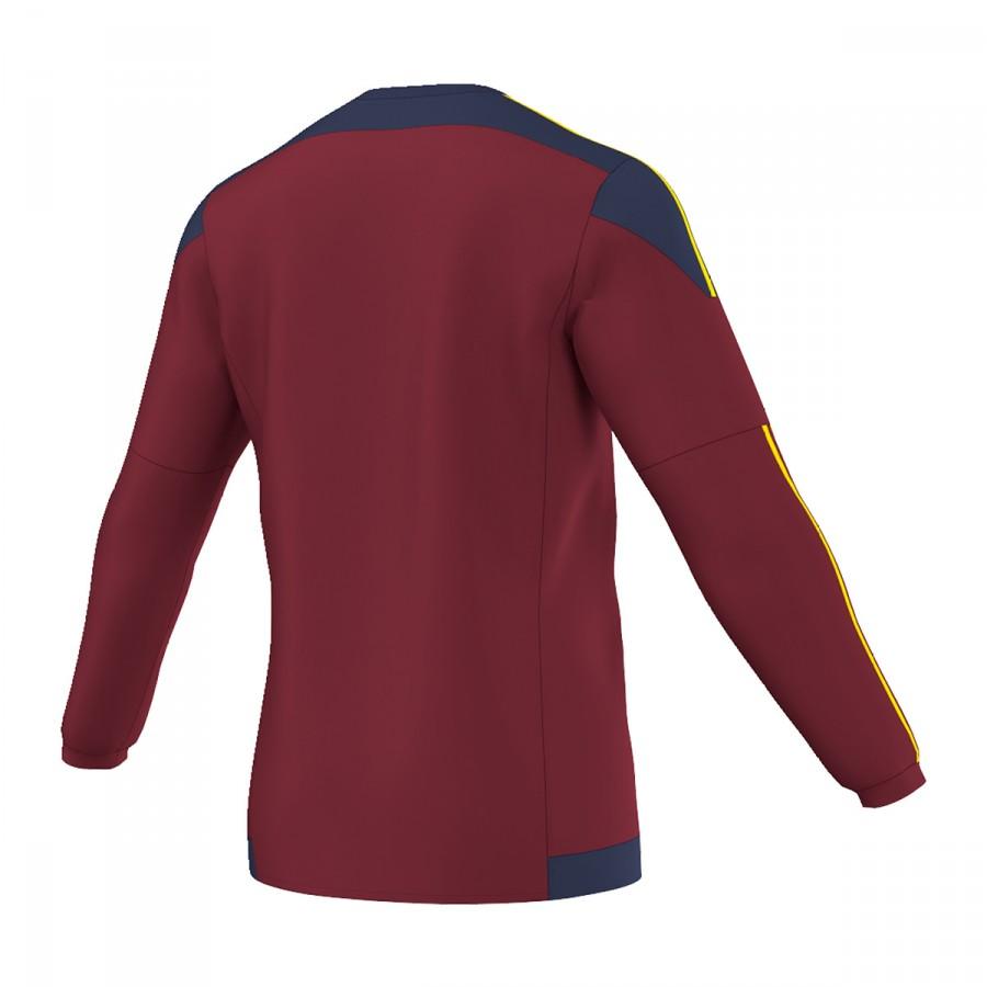 933e7389c5a4d Camiseta adidas Striped 15 m l Granate-Azul marino-Amarillo - Tienda de fútbol  Fútbol Emotion
