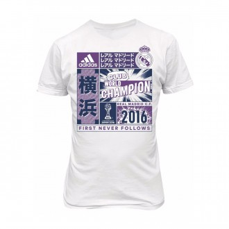 Camiseta  adidas Real Madrid Club World Champion Niño White-Purple