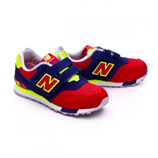 Zapatilla  New Balance KV574 Velcro Red-Blue Navy-Solar yellow