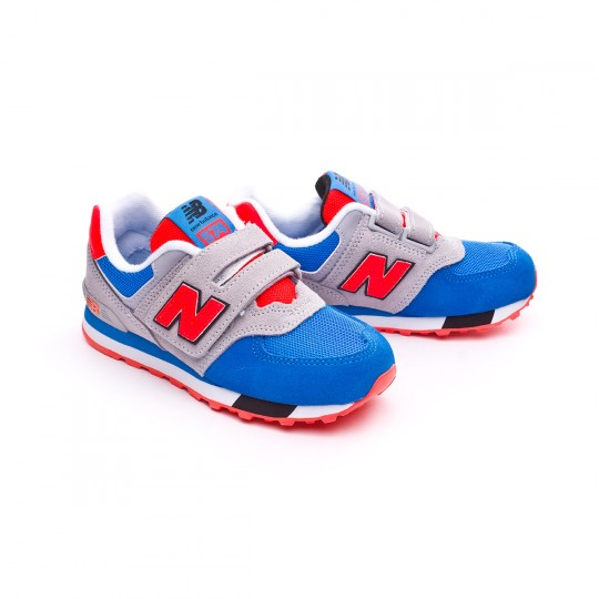 Zapatilla  New Balance KV574 Velcro Grey-Blue-Red