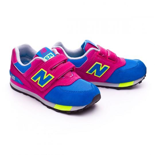 Sapatilha  New Balance KV574 Velcro Pink-Blue