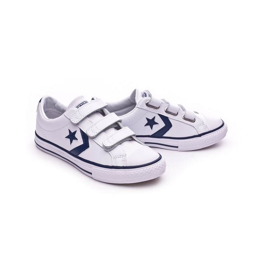 b8e5fbbe712 Trainers Converse Jr Star Player 3V OX White-Navy - Football store ...