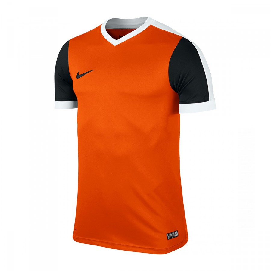 Camiseta Nike jr Striker IV mc Safety orange Black White