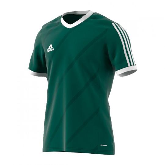 Maillot  adidas Tabela 14 m/c Verde oscuro-Blanc