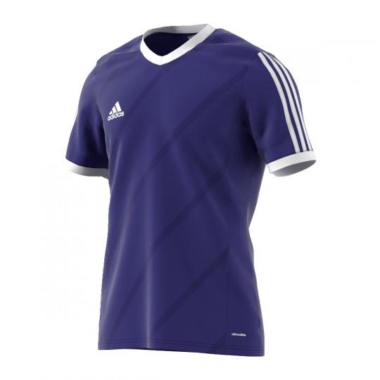 Maillot  adidas Tabela 14 m/c Violet-Blanc