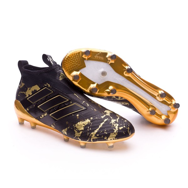 Boot adidas Ace 17+ Purecontrol FG Pogba Core black-Matte gold ... cfd2db45c0