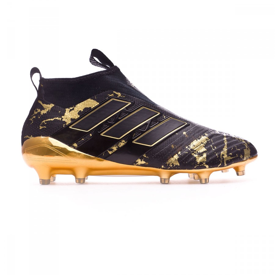 07965c5b7cf36 Football Boots adidas Ace 17+ Purecontrol FG Pogba Core black-Matte gold -  Football store Fútbol Emotion