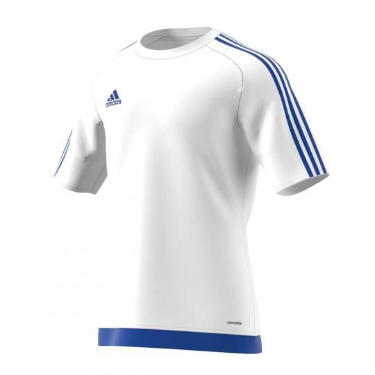 Maillot  adidas Estro 15 m/c Blanc-Azul royal