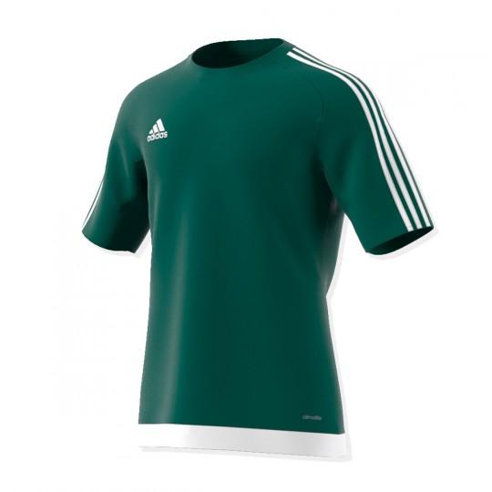 Maillot  adidas Estro 15 m/c Vert-Blanc