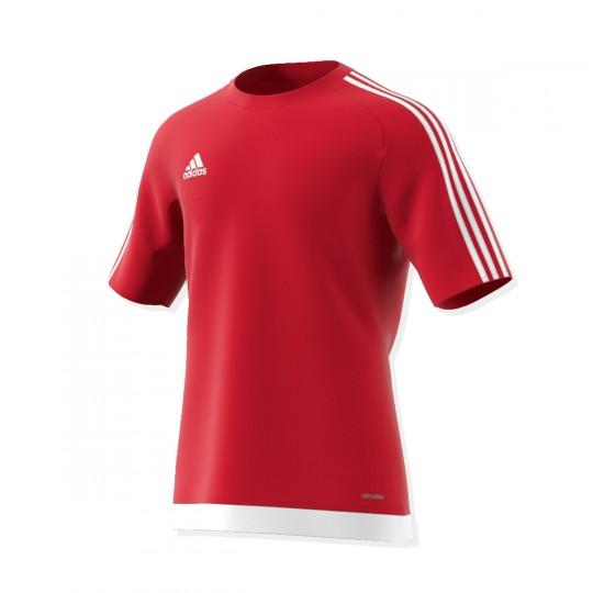 Maillot  adidas Estro 15 m/c Rouge-Blanc