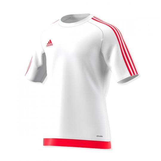Maillot  adidas Estro 15 m/c Blanc-Rouge