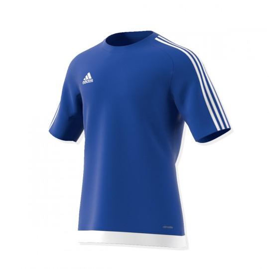Maillot  adidas Estro 15 m/c Azul royal-Blanc