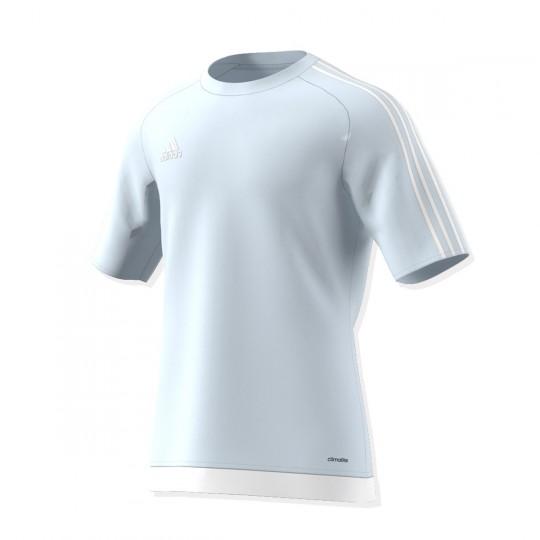 Maillot  adidas Estro 15 m/c Gris-Blanc