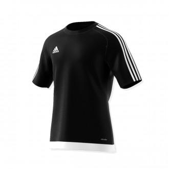 Camiseta  adidas Estro 15 m/c Negro-Blanco