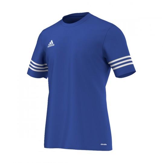 Maillot  adidas Entrada 14 m/c Azul royal-Blanc