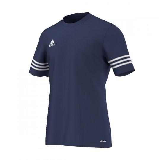 Maillot  adidas Entrada 14 m/c Bleu marine-Blanc