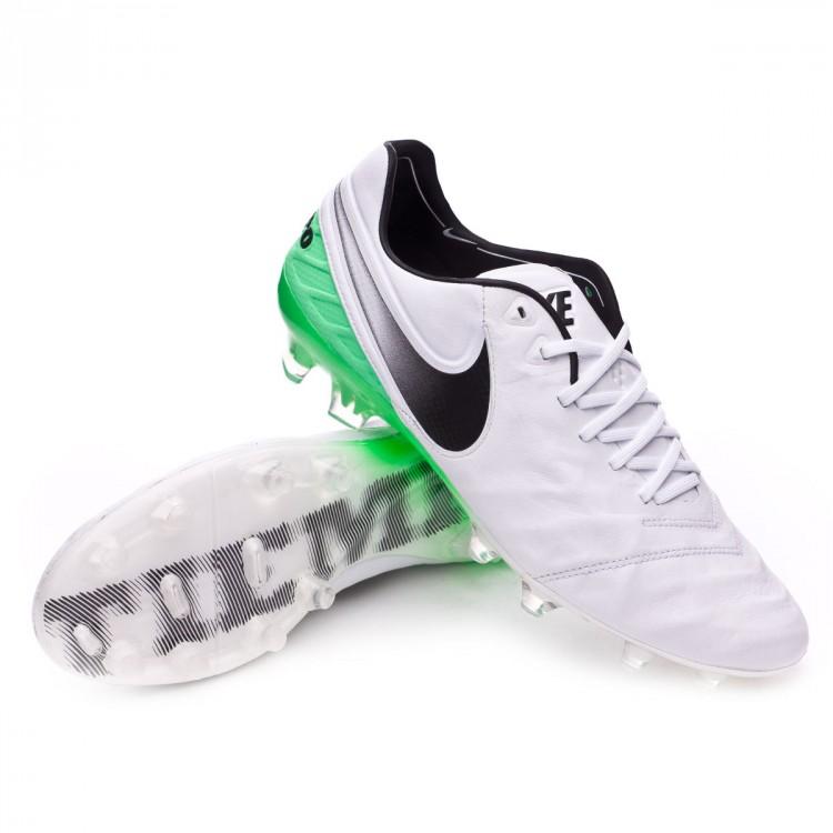pretty nice f6874 55075 Bota Tiempo Legend VI ACC FG White-Electro green