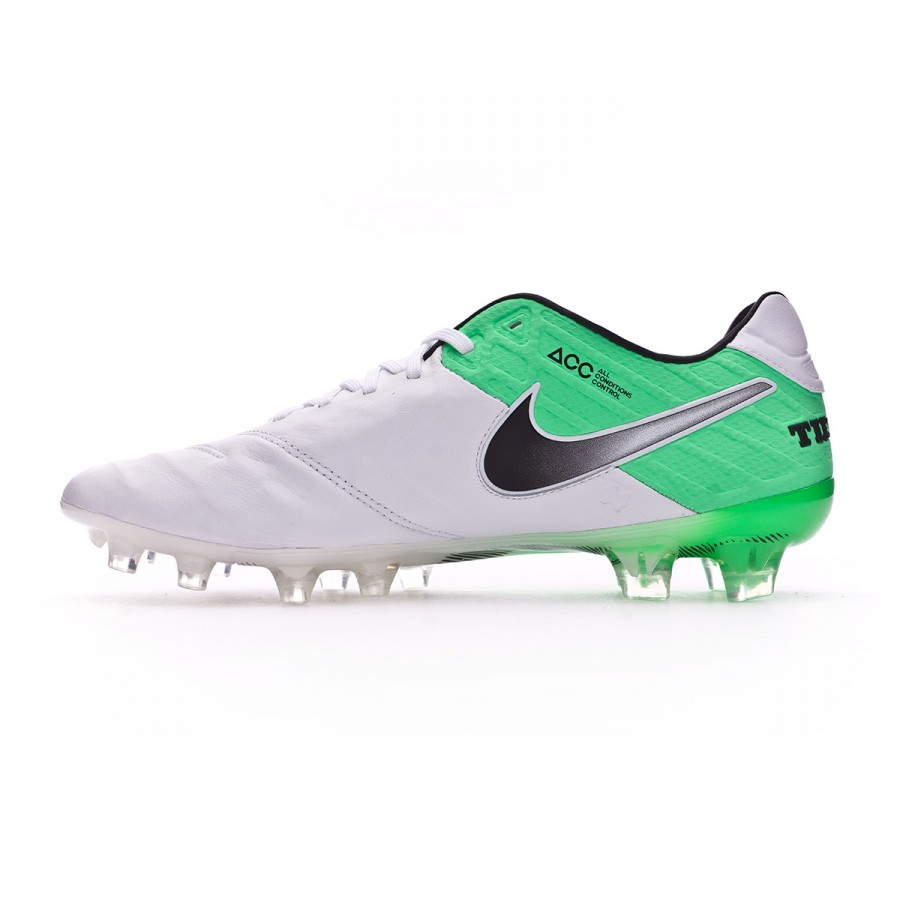 2ba1e7ab5b3c Football Boots Nike Tiempo Legend VI ACC FG White-Electro green - Football  store Fútbol Emotion