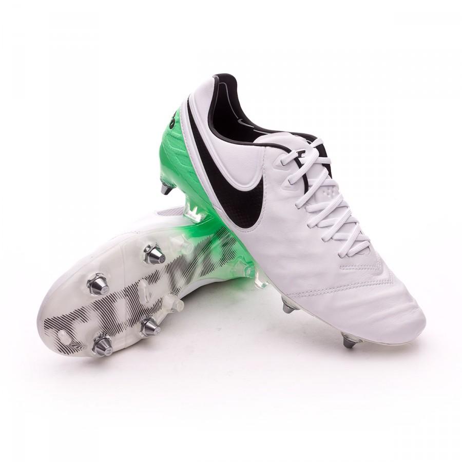 f68ff427680c8 Football Boots Nike Tiempo Legend VI ACC SG-Pro White-Electro green ...