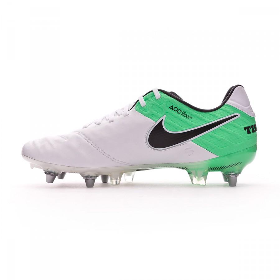 44ca964cf Football Boots Nike Tiempo Legend VI ACC SG-Pro White-Electro green -  Football store Fútbol Emotion