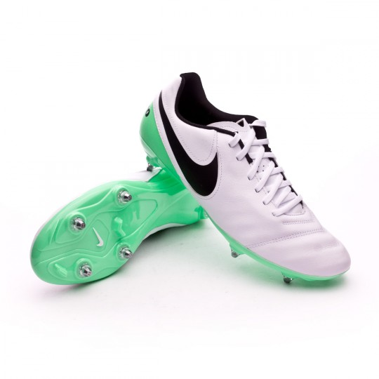 Scarpa  Nike Tiempo Genio Leather II SG White-Electro green