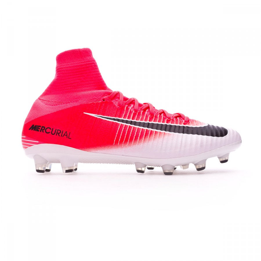 c0a0ce481 Football Boots Nike Mercurial Superfly V ACC AG-Pro Racer pink-White -  Football store Fútbol Emotion