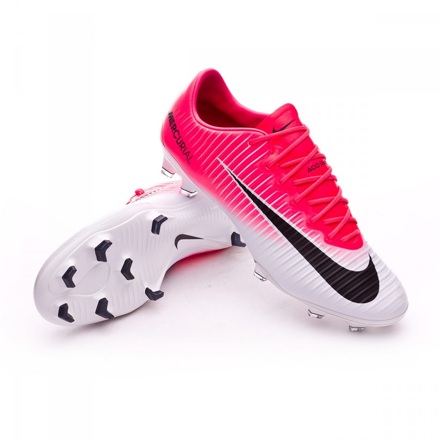 Boot Nike Mercurial Vapor XI ACC FG Racer pink-White - Football ... aa681a52333cb