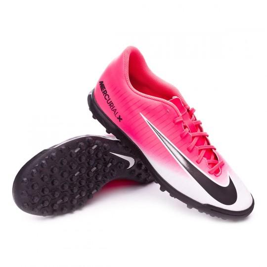 Zapatilla de fútbol sala  Nike MercurialX Vortex III Turf Racer pink-White