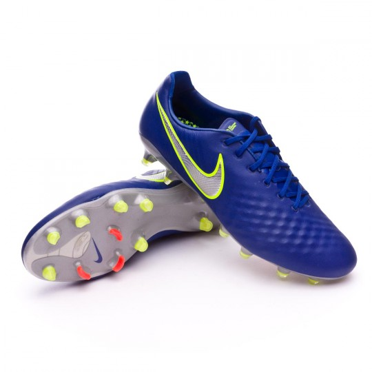 Chuteira  Nike Magista Opus II ACC FG Deep royal blue-Chrome-Total crimson