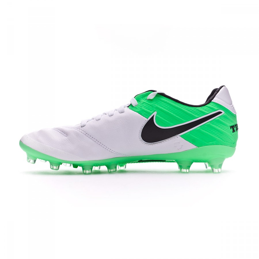 6acd663c0940 Football Boots Nike Tiempo Legacy II AG-Pro White-Electro green - Football  store Fútbol Emotion